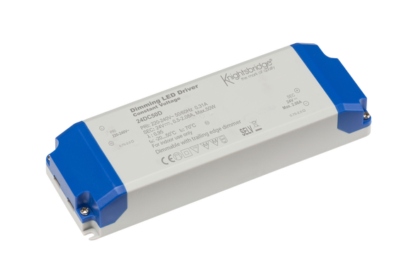 Knightsbridge IP20 24V 50W DC Dimmable LED Driver - Constant Voltage