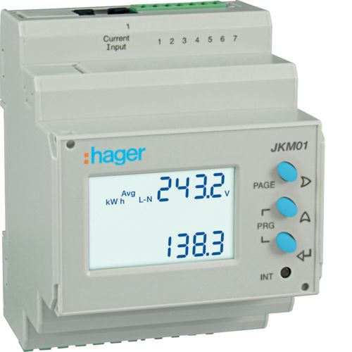 Hager Multifunction meter DIN rail 2x3P RS485 JKM02