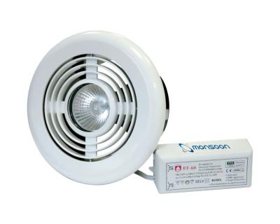National Ventilation Monsoon Timer Duct Fan & Ceiling Vent Light Kit White 187m³/hr MVLT1DK