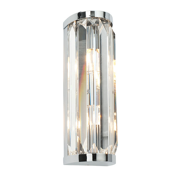 Saxby Crystal 2lt wall IP44 18W