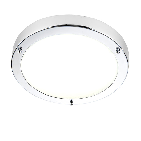 Saxby Portico LED flush IP44 9W cool white
