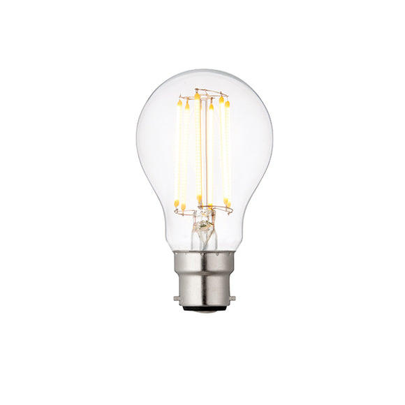 Saxby B22 LED filament GLS dimmable 6W warm white