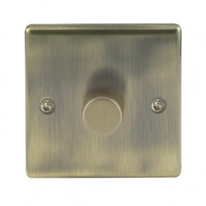 Antique Brass Low Profile 1 Gang 2 Way Dimmer Switch