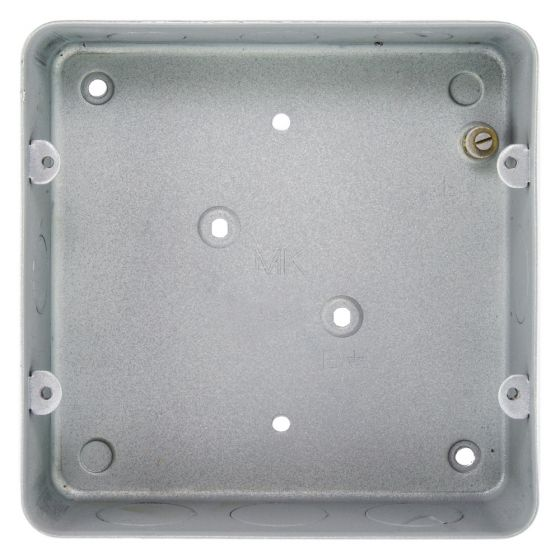MK Grid 893ALM Flush Metal Back Box for a 6 or 8 Gang Grid Plate