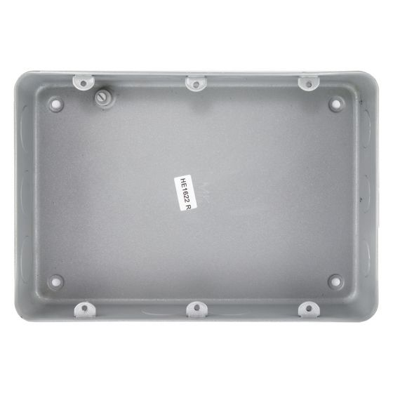 MK Grid 895ALM Flush Metal Back Box for a 9 or 12 Gang Grid Plate