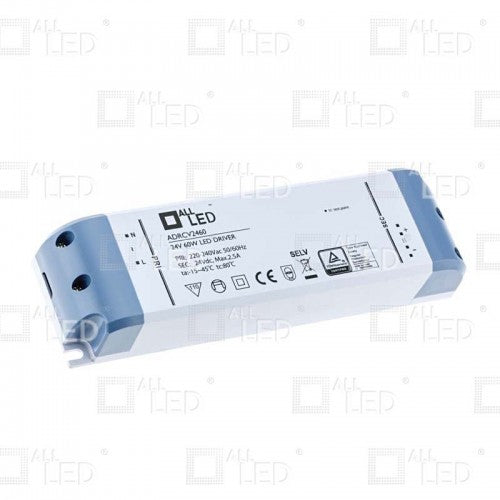All Led ADRCV2460 - 24v 60w Constant Voltage LED Driver