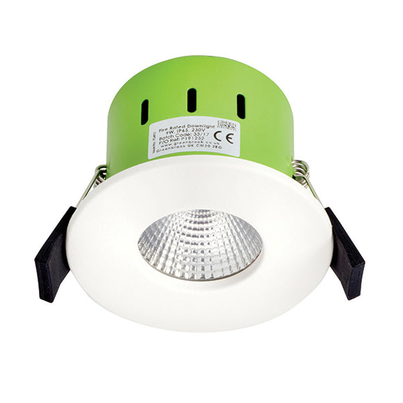 Greenbrook Vela Advance IP65 Dimmable LED Fire Rated Downlight - 9W Fixed