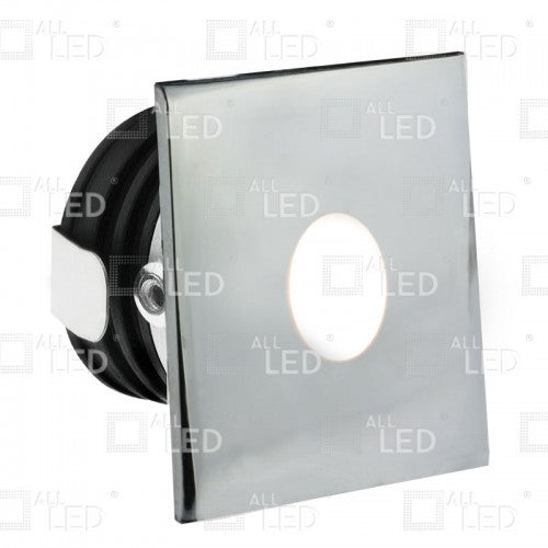All Led ALSQ032PC/40 - Polished Chrome Square Low-Level Marker Light 1W 4000K