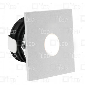 All Led ALSQ032WH/30 - White Square Low Level Marker Light 1W 3000K
