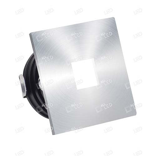 All Led ALSQ032OP/AL/30  - Aluminium Square Low Level Marker Light 1W 3000K
