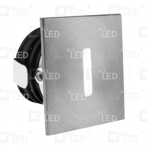 All Led ALSQ032SC/AL/40   - Aluminium Square Low Level Marker Light 1W 4000K