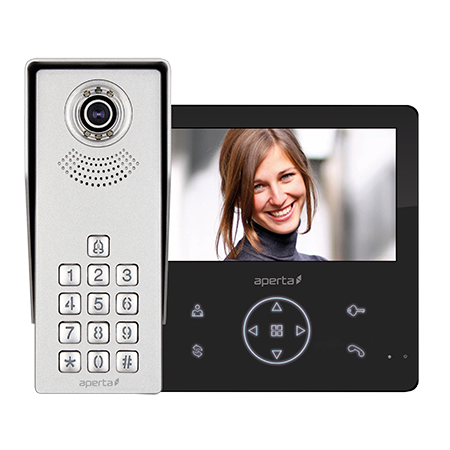 ESP Colour Video Door Entry Keypad System with Record Facility APKITKPGBLK