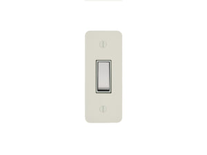 Focus SB Ambassador Architrave Grid 1 Gang 2 Way Switch Primed White White Insert