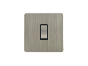 Focus SB Ambassador Rocker 1 Gang 2 Way Switch Satin Nickel Black Insert