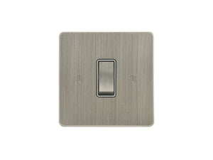 Focus SB Ambassador Rocker 1 Gang 2 Way Switch Satin Nickel White Insert