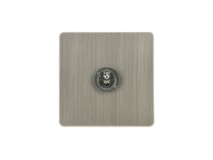 Focus SB Ambassador Dolly Grid 1 Gang 2 Way Switch Satin Nickel