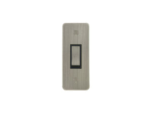 Focus SB Ambassador Architrave Grid 1 Gang 2 Way Switch Satin Nickel Black Insert
