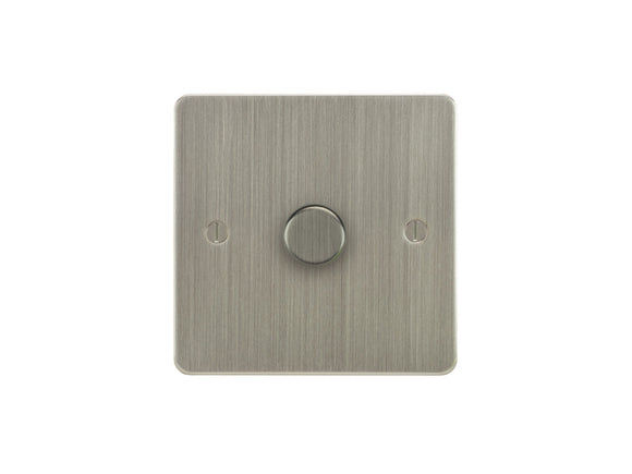 Focus SB Ambassador 1 Gang 2 Way Push On/Off Dimmer Switch Satin Nickel