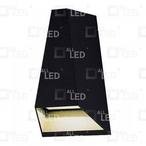 All Led AWL03/BK - 6w Black Up/Down Wall Light