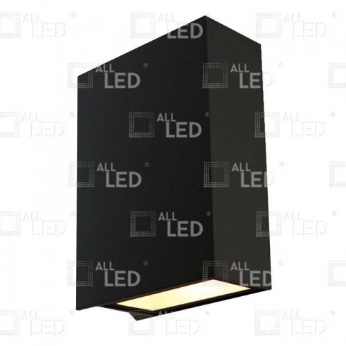 All Led AWL04/BK - 6w Black Up/Down Wall Light