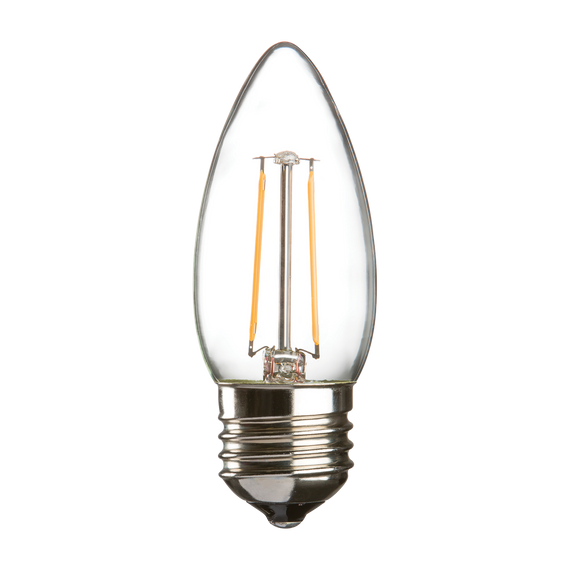 Knightsbridge 230V 2W LED 35mm ES Clear Candle 3000K