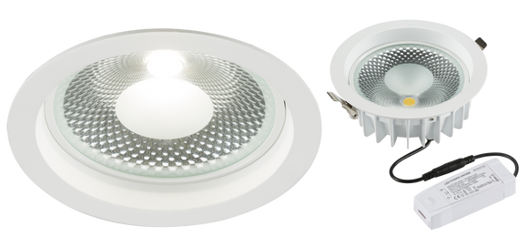 Knightsbridge 230V 15W COB LED Recessed Commercial Downlight 4000K