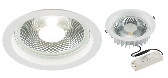 Knightsbridge 230V 30W COB LED Recessed Commercial Downlight 4000K