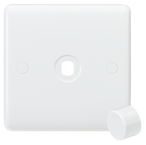 Knightsbridge Curved Edge 1G Dimmer Plate with Matching Dimmer Cap