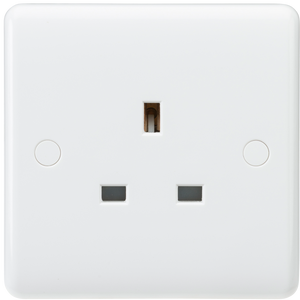 Knightsbridge Curved Edge 13A 1G Unswitched Socket