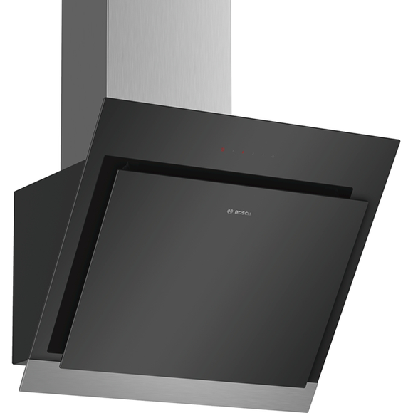 Bosch Serie 4  60cm Angled Glass Wall Extractor  DWK67HM60B