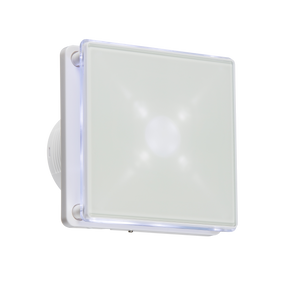 "Knightsbridge 100MM/4"" LED Backlit Extractor Fan with Overrun Timer - White"