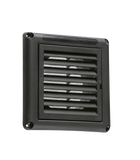 "Knightsbridge 100MM/4"" Extractor Fan Grille with Fly Screen - Black"