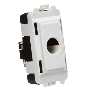 Knightsbridge Flex outlet module (up to 10mm) - white