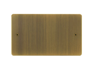 Focus SB Horizon Double Blanking Plate Antique Brass