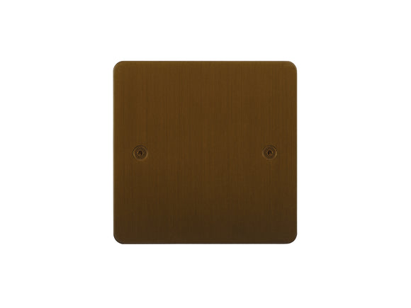 Focus SB Horizon Single Blanking Plate Bronze Antique