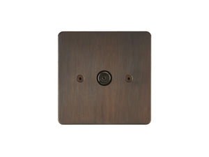 Focus SB Horizon TV Co-Axial 1 Gang Socket Chocolate Bronze