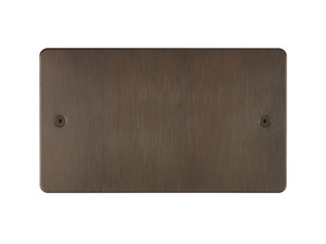 Focus SB Horizon Double Blanking Plate Chocolate Bronze