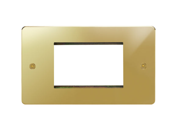 Focus SB Horizon 3 Module Euro Plate Polished Brass