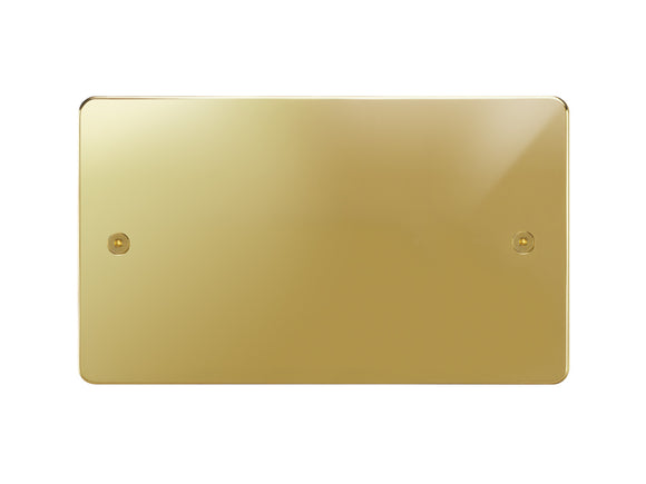 Focus SB Horizon Double Blanking Plate Polished Brass