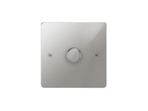 Focus SB Horizon 1 Gang 2 Way Push On/Off Dimmer Switch Polished Chrome Single