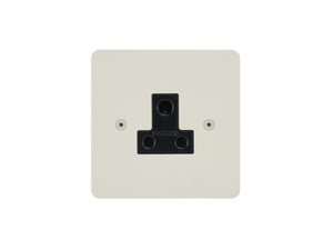 Focus SB Horizon Unswitched 1 Gang Socket Colour Coated Black Insert