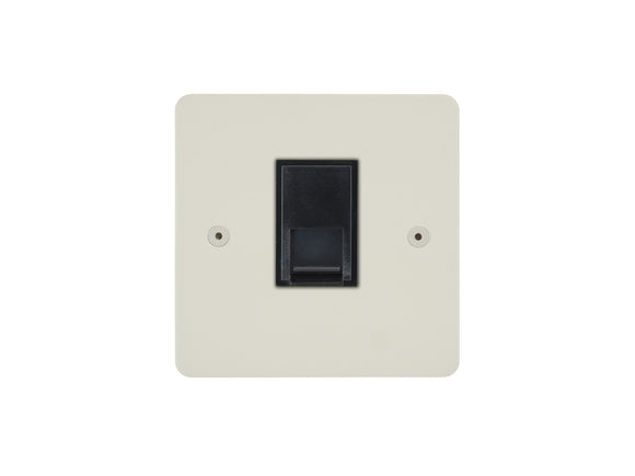 Focus SB Horizon Telephone Master 1 Gang Socket Colour Coated Black Insert