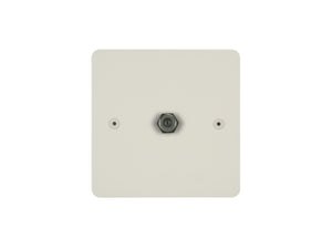 Focus SB Horizon TV Satellite FM 1 Gang Socket Colour Coated