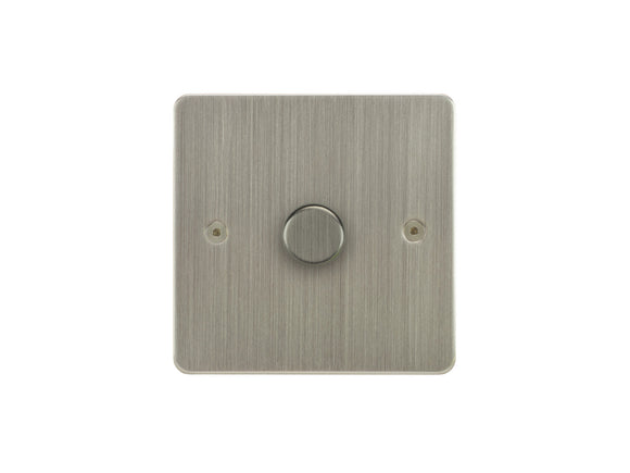 Focus SB Horizon 1 Gang 2 Way Push On/Off Dimmer Switch Satin Nickel