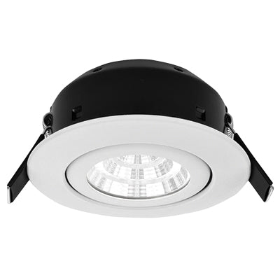 Greenbrook Vela Compact IP44 Dimmable LED Fire Rated Downlight - 7W Tilt