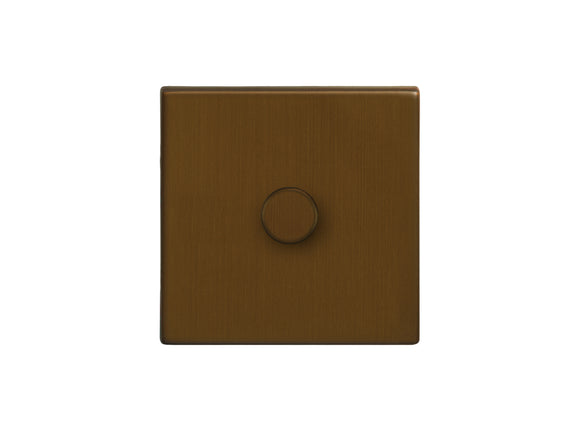Focus SB Morpheus 1 Gang 2 Way Push On/Off Dimmer Switch Bronze Antique