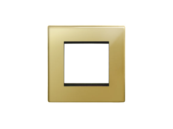 Focus SB Morpheus 2 Module Euro Plate Polished Brass