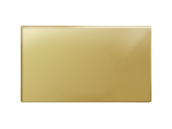 Focus SB Morpheus Double Blanking Plate Polished Brass