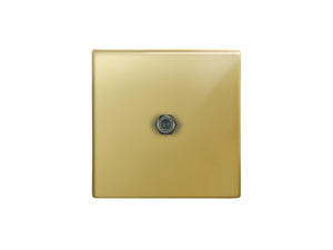 Focus SB Morpheus 1 Gang Satellilte Socket Polished Brass