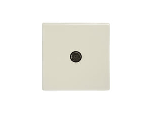 Focus SB Morpheus TV Co-Axial 1 Gang Socket Primed White